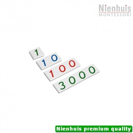 Plastic Number Cards: Small, 1-3000