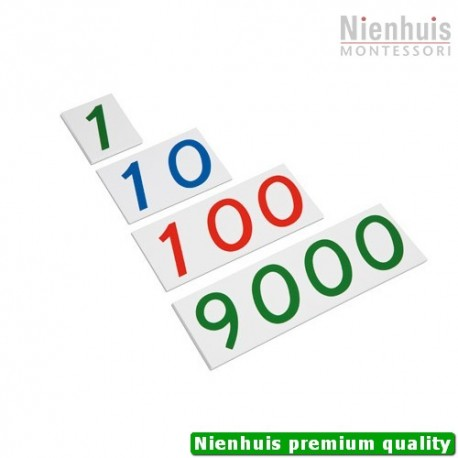 Plastic Number Cards: Large, 1-9000