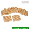 Wooden Square Of 100: Set Of 10