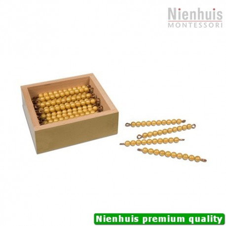 45 Golden Bars Of 10 In Box: Individual Beads Nylon