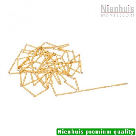 Golden Bead Chain Of 1000: Connected Beads Nylon