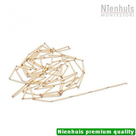 Golden Bead Chain Of 1000: Individual Beads Glass