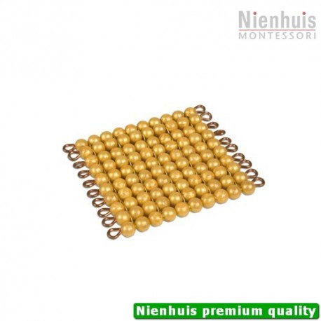 One Golden Bead Square Of 100: Individual Beads Nylon