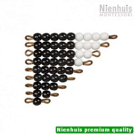 Black And White Bead Stairs: Individual Beads Glass: 1 Set