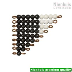 Black And White Bead Stairs: Individual Beads Nylon: 1 Set