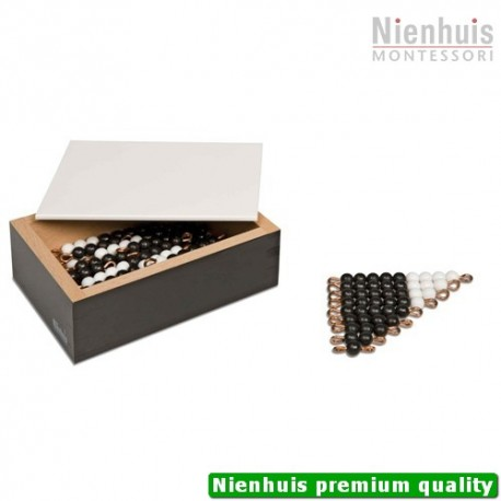 Black And White Bead Stairs: Individual Beads Nylon: 5 Sets