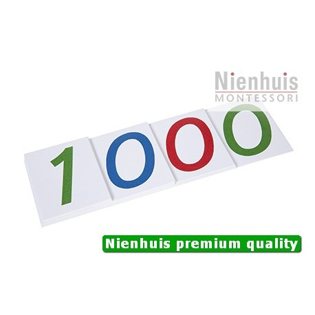 Large Number Cards 1-1000, Paper