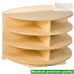 End Cabinet: Rounded Shelves (69 cm)