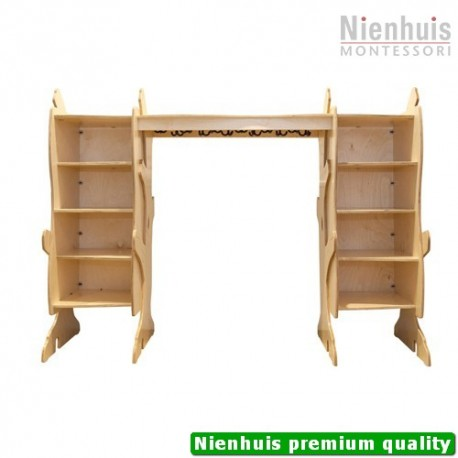 DeZein Coat Hanger With Two Individual Side Cabinets: (183 x 51 x 139 cm)