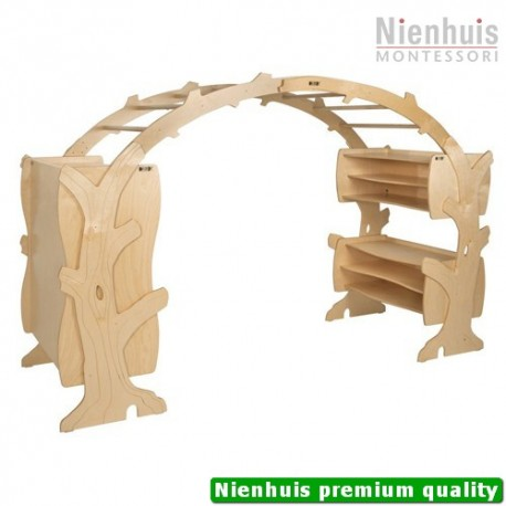 DeZein Imaginative Play Cabinet: Two Cabinets Connected With Bridge (251 x 84 x 174 cm)