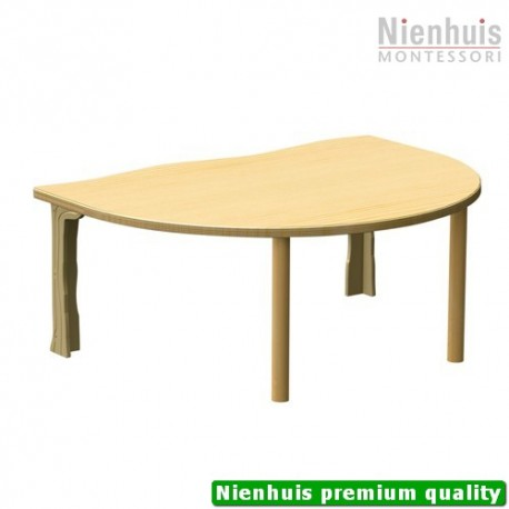 DeZein Table: Half Round Large - Low (114 x 87 x 45 cm)