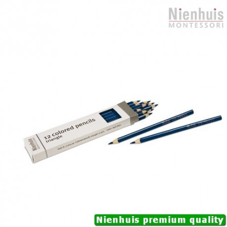 3-Sided Inset Pencils: Dark Blue