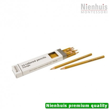 3-Sided Inset Pencils: Gold