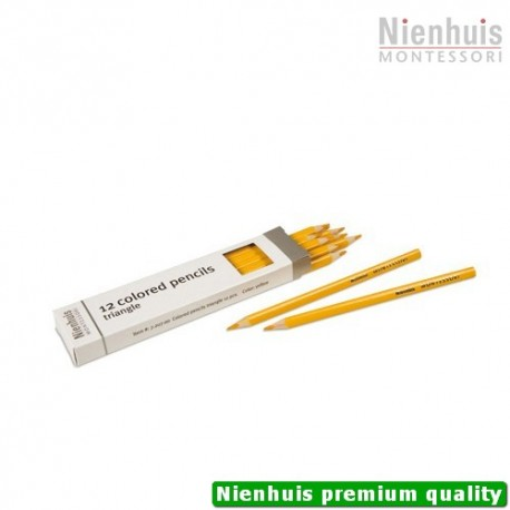 3-Sided Inset Pencils: Yellow