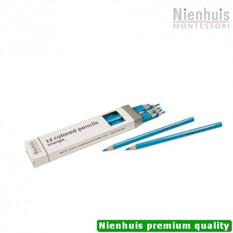 3-Sided Inset Pencils: Light Blue