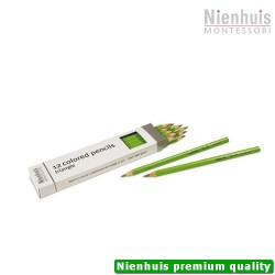 3-Sided Inset Pencils: Light Green
