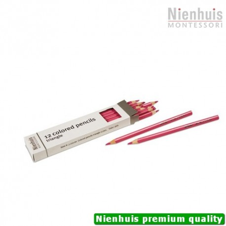3-Sided Inset Pencils: Pink