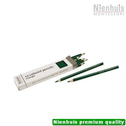3-Sided Inset Pencils: Dark Green