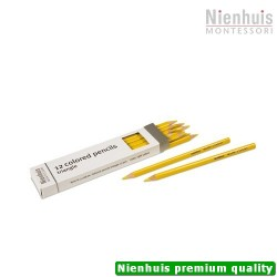 3-Sided Inset Pencils: Light Yellow