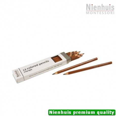 3-Sided Inset Pencils: Light Brown