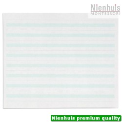 Writing Paper: Green Lines - 7 x 8.5 in - (500)