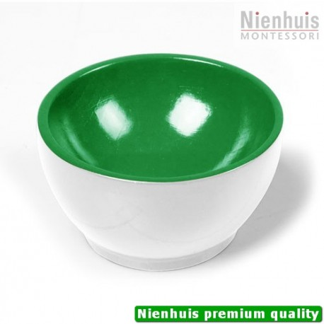 Wooden Cup: White/Green