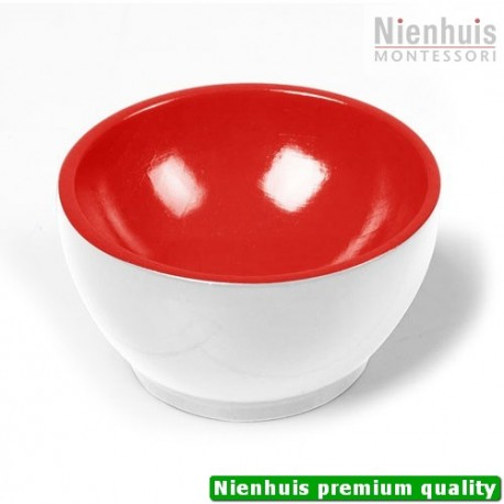 Wooden Cup: White/Red