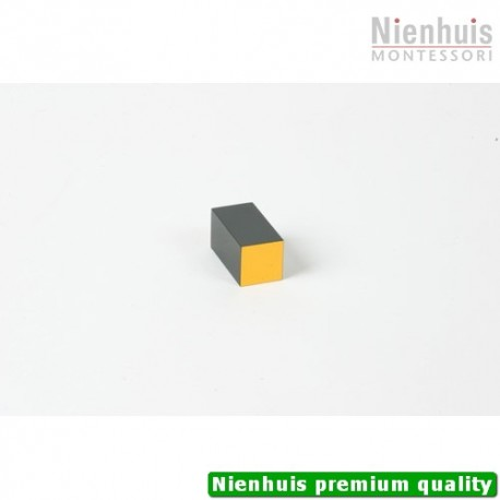 Trinomial Cube: Black And Yellow Prism - 4 x 2 x 2