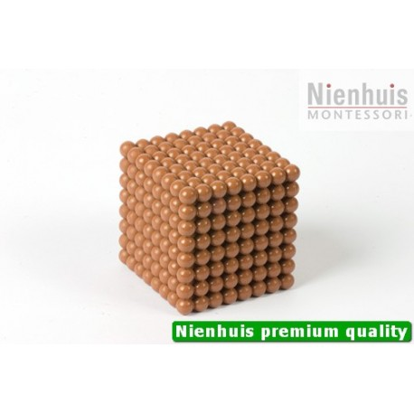 Connected Nylon Cube Of 8: Brown