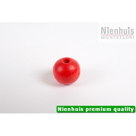Single Wooden Bead: Red