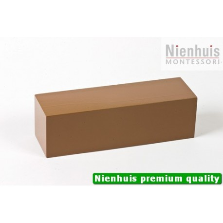 Brown Stair Prism: Brown Lacquer 20 x 6 x 6