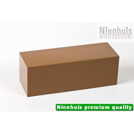 Brown Stair Prism: Brown Lacquer 20 x 7 x 7