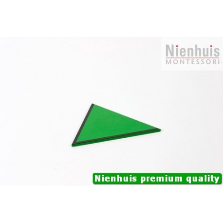 Small Hexagon Box: Equilateral Triangle - Green /\