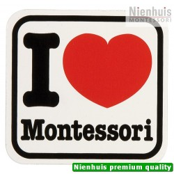 Vinyl Sticker: I Love Montessori