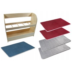 SET of 5 Carpets with Stand (save £13)
