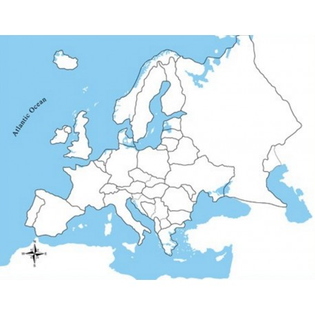 Europe Control Map Unlabelled
