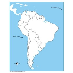 South America Control Map Unlabelled