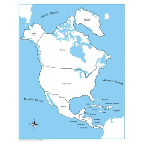 North America Control Map Labelled
