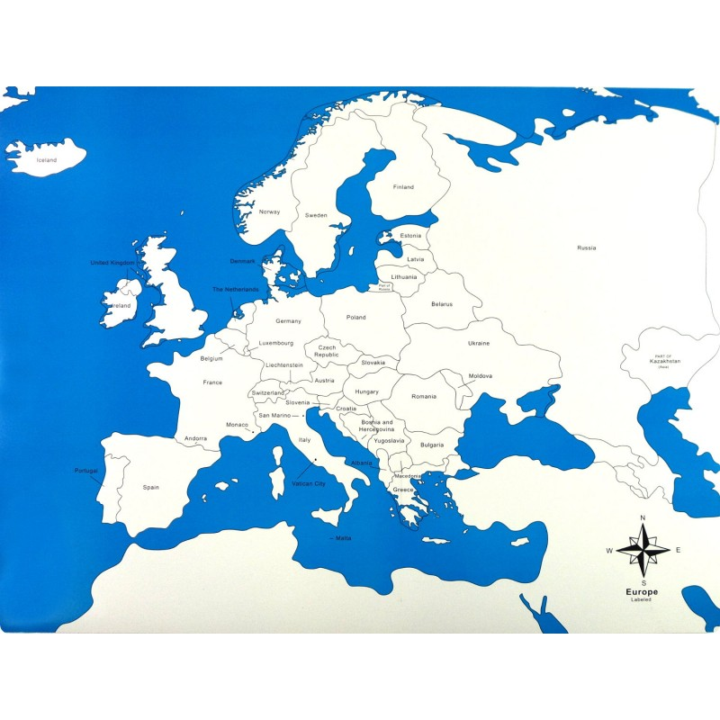 Europe Control Map Labelled