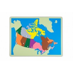 Jigsaw Puzzle Map - Canada