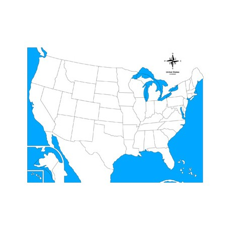 USA Control Map Unlabelled