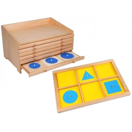 Geometric cabinet and Forms Demonstration Tray