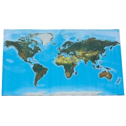 Large floor World map, 180x110cm, physical