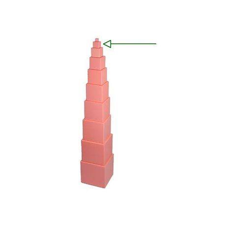 Replacement Pink Tower Cube 2x2