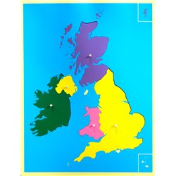 Jigsaw Puzzle Map - UK + Ireland (small)