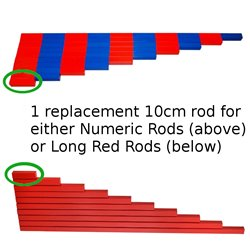 Long red rod / Numeric rods - 10cm replacement rod