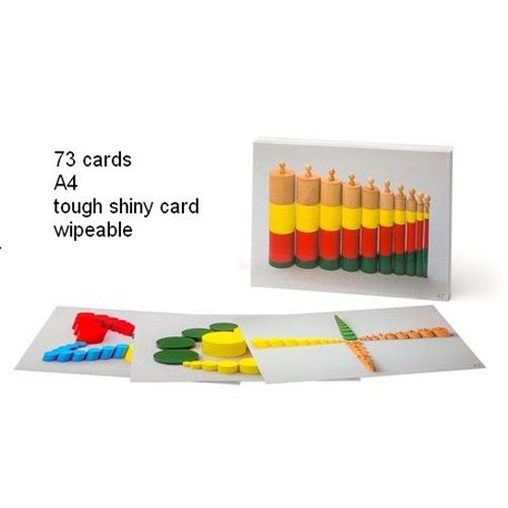 73 A4 Task cards for coloured cylinders and knobless cylinders