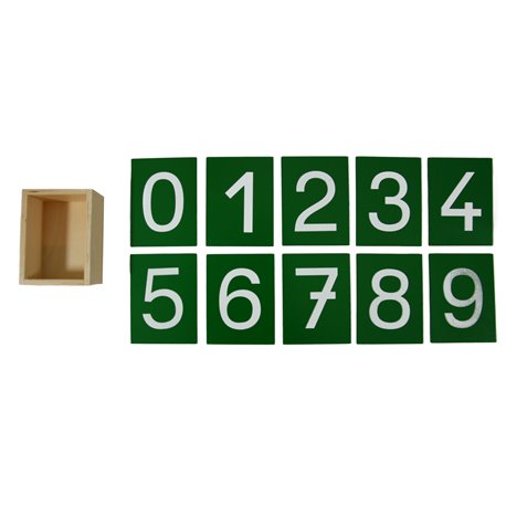 Sandpaper numerals (French/German)