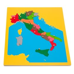 Jigsaw Puzzle Map - Italy