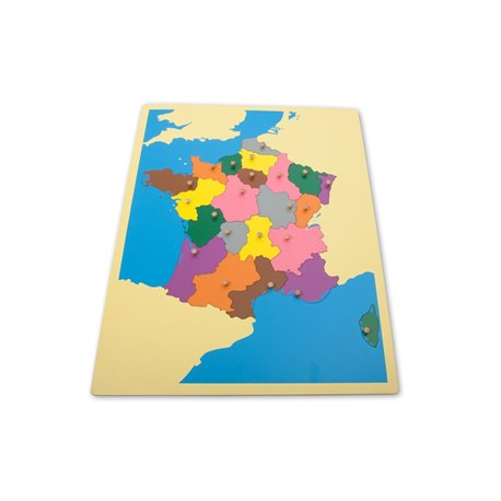 Jigsaw Puzzle Map - France
